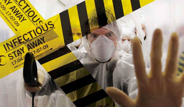 Promotion image for INFECTIOUS exhibition.